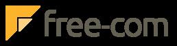 Logo free-com transparent, 4C