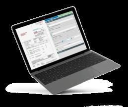 Vorschau der Anzeige am Laptop bei Automatisierung von Lieferscheinen