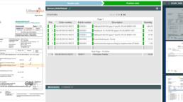 Vorschau Automatisierung von Lieferscheinen, Erkennung Positionsdaten