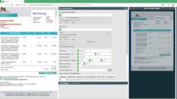 Screenshot smart INVOICE Ansicht: Check der automatisch ausgelesenen Rechnungsdaten