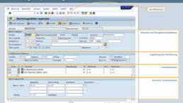 Screenshot Rechnungsfreigabe in SAP